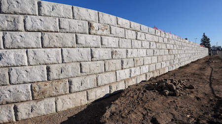 Commercial Landscaping-Retaining Wall