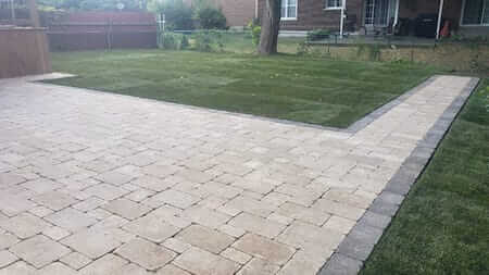 Residential hardscaping after image