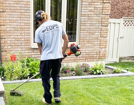 Residential lawn cutting - trimmer