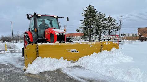 Kubota M6 Snow Plowing